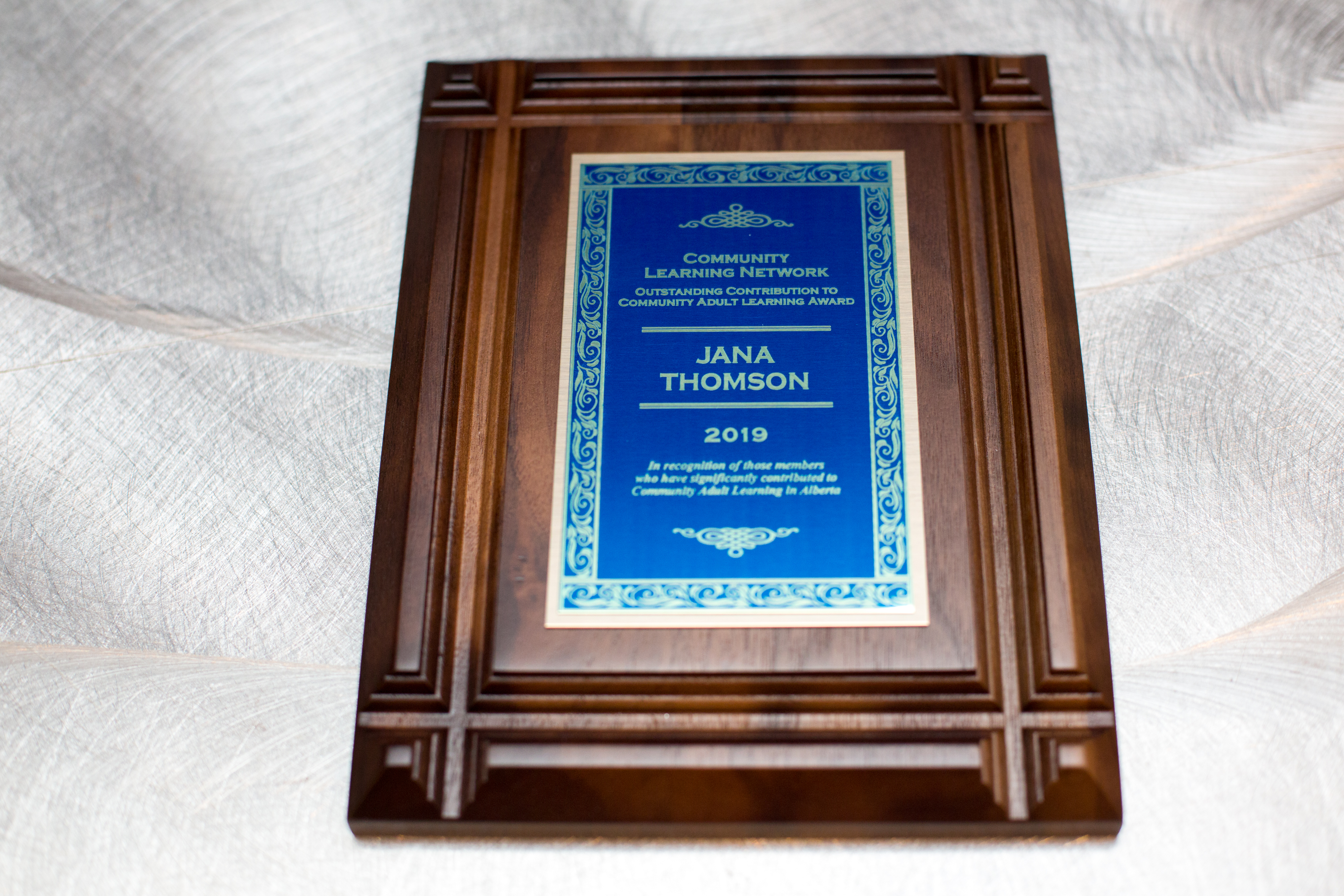 Outstanding Contribution Plaque